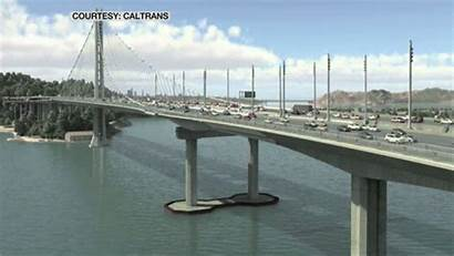Bridge Earthquake California Collapse Bay Gifs Animated