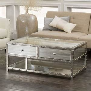 Best 25 mirrored coffee tables ideas on pinterest glam for Mirrored coffee table and end tables