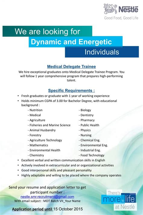 recruitment pt nestle indonesia