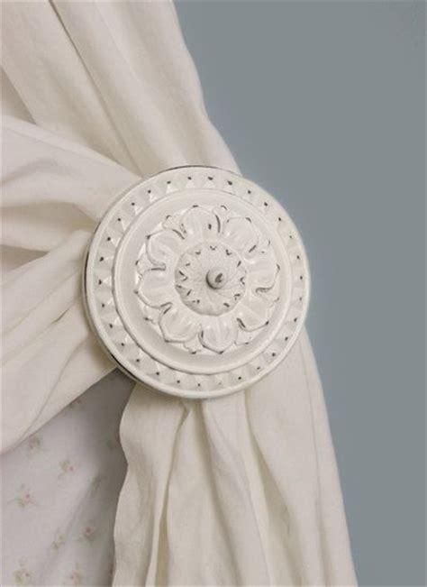 curtain tiebacks antique white curtain holdback