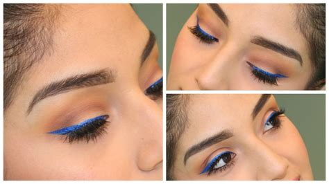holiday party eye makeup  brown eyesnyx extreme blue