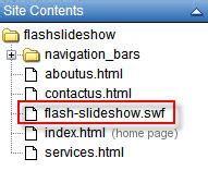 embed flash slideshow  yahoo sitebuilder