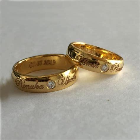 custom platinum rings gold rings name engraved platinum