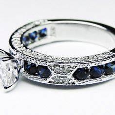 blue diamond engagement rings on pinterest blue diamond With navy wedding rings