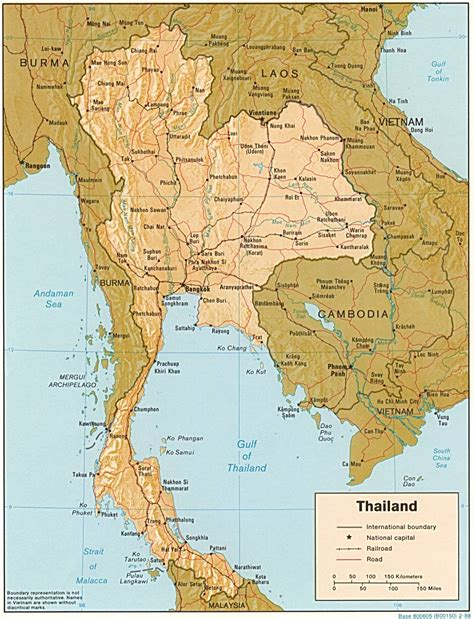 map  thailand geography
