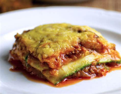 recette de cuisine cookeo lasagne de courgettes légère recette légère plat et recette