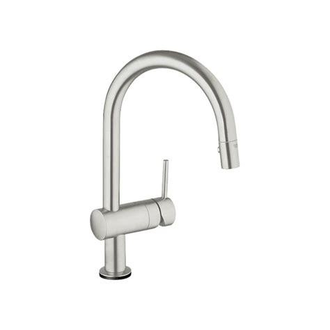 Grohe Kitchen Faucets Lowes by Shop Grohe Minta Supersteel 1 Handle Pull Kitchen