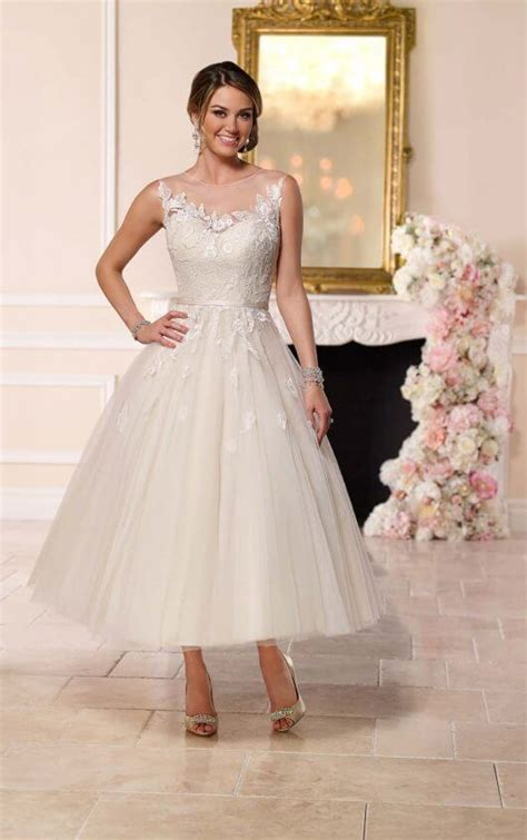 Tea Length Tulle Wedding Dress   Stella York Wedding Dresses