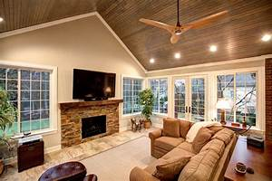 Family Room Addition And Office Built Ins Atchison Heller