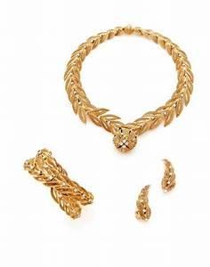 sterle parure en or jaune et platine eloge de l39art par With parure or jaune