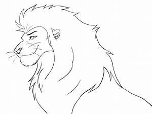 Free lineart -head male lion by Malaika4 on DeviantArt