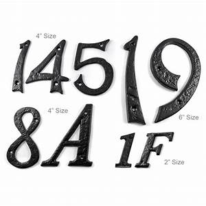 kirkpatrick black cast iron classic house letters house With iron house numbers and letters