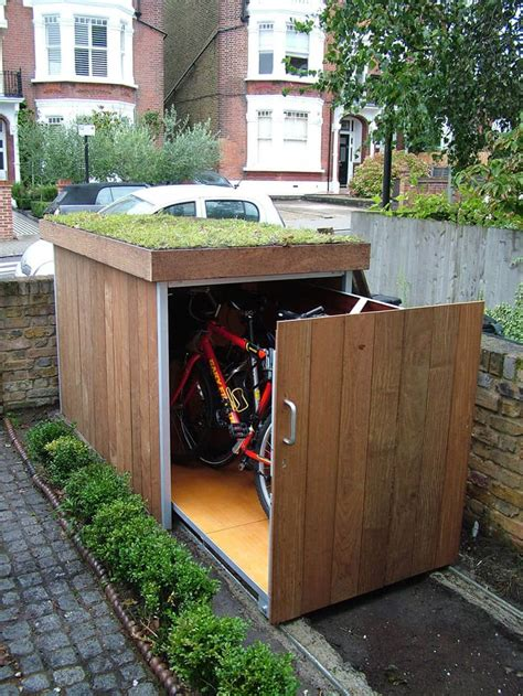 Modern Outdoor Bike Garage By Treesaurus