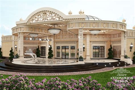 beatiful villas exterior design  qatar luxury