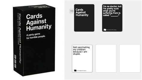 Cards against humanity is a party game for horrible people. You Can Now Play 'Cards Against Humanity' For Free Online