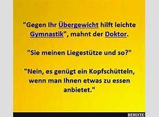 'Gegen Ihr Übergewicht hilft leichte Gymnastik', mahnt der