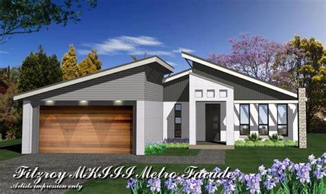 3 bedroom house floor plans fitzroy mkiii metro facade home design tullipan homes