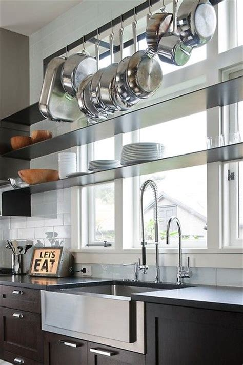 sink shelves kitchen beautiful contemporary kitchen the thin profile shelves 2276
