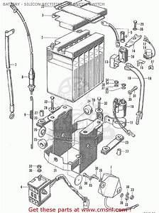 Honda Cb175 Super Sport 175 K6 1972 Usa Battery