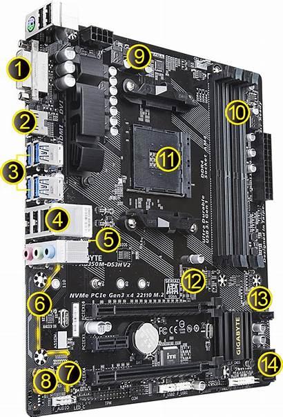 Gigabyte Ds3h Ab350m Ga Am4 Socket Motherboard