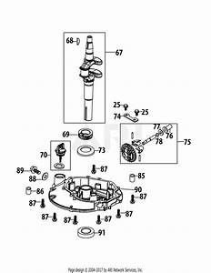 Mtd 1t65rua Engine Parts Diagram For 1t65rua Crankshaft  U0026 Cover