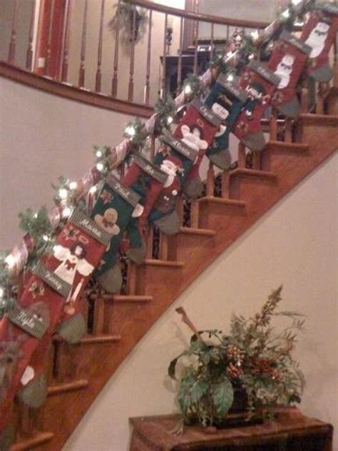stockings coming   stairs pictures