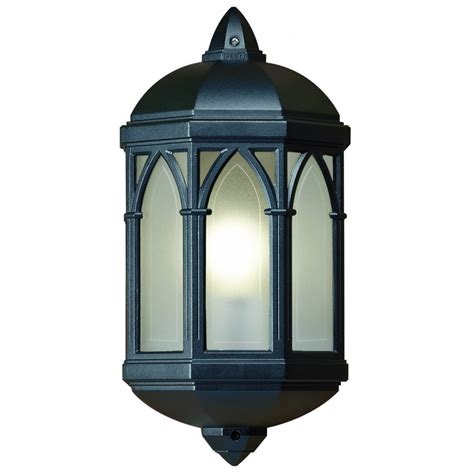 endon yg 065 bl outdoor 1 light flush mounted wall light