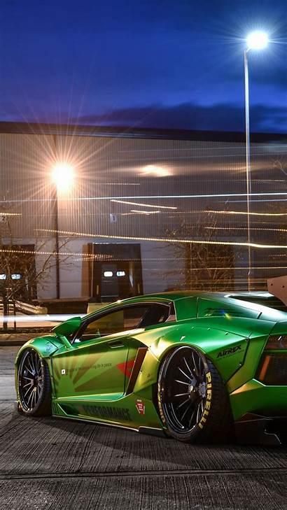 Lamborghini Aventador Portrait Walk Liberty Backiee Background