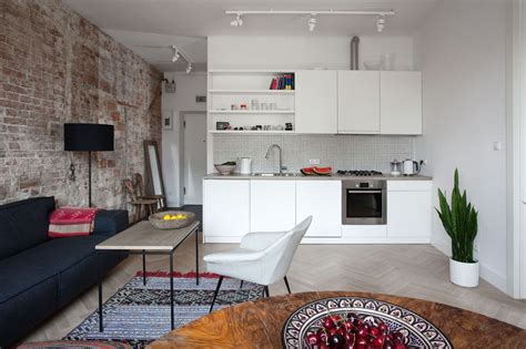 Small Apartment In Warsaw With Tasteful Simple Decor