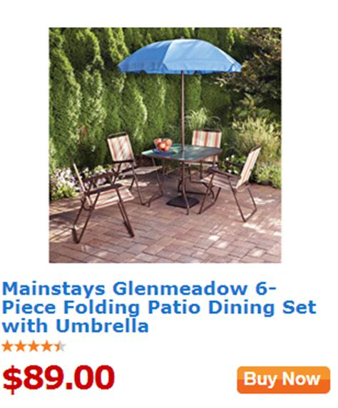 walmart value of the day mainstays glenmeadow 6