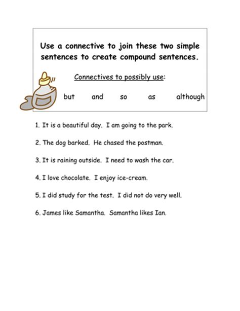 Joining Simple Sentences Using Connectives By Smudge78  Teaching Resources