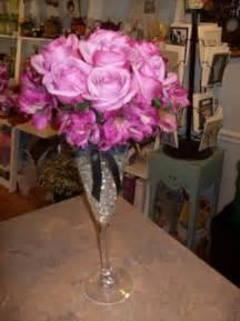 Champagne Glass Wedding Centerpieces