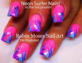 Robin moses nail art quot neon nails pink
