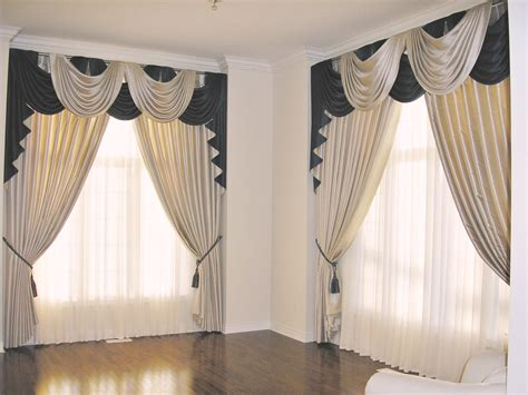 248 Two Colors Swag & Cascade Valances, Lined Drapes