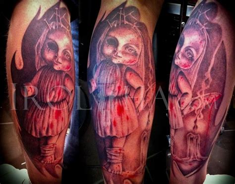45 Best Creepy Doll And Puppet Tattoos Images On Pinterest