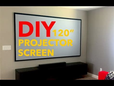 "120"" DIY PROJECTOR SCREEN YouTube"