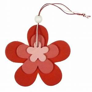 Fleur En Bois : fleur en bois suspendre 9 5x9 5cm ~ Dallasstarsshop.com Idées de Décoration
