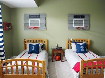 Sports Corner In The Boys Room by Basketball Hoops Above The Bed It Boys Bedroom