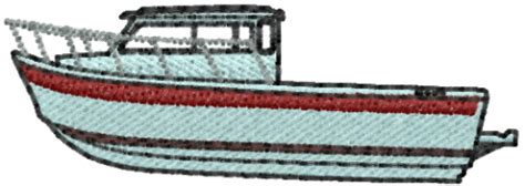 Fishing Boat Designs 1 by Datastitch Embroidery Design Fishing Boat 0 70 Inches H X