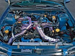 Modp 1003 06 O 1998 Subaru Impreza 25rs Coupe Engine Bay