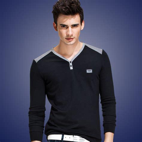 Fashion Silket V Neck fitted v neck t shirt for designers