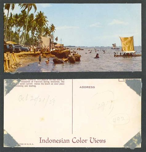 Boats For Sale Jakarta by Indonesia Jakarta 1959 Postcard Palm Trees