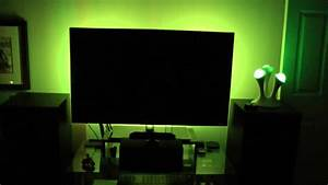 My tv accent lighting setup youtube for Tv accent lighting