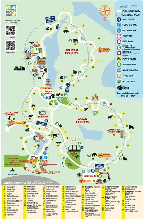 miami zoo map zoos animals 1980 cycle mono