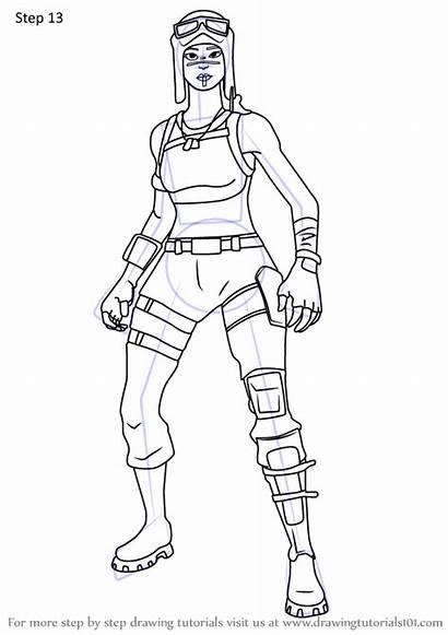 Raider Renegade Draw Fortnite Drawing Step Tutorials
