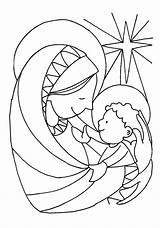 Jesus Coloring Mary Pages Christmas Children Poetry Christian Printable Sheets Mother Poems Pitara Manger Craft Crafts Nativity Bible Preschool Joseph sketch template