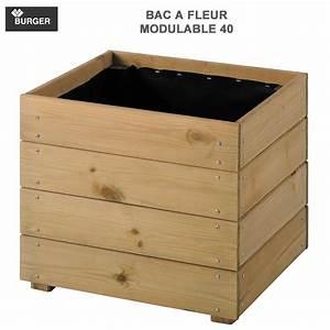 Fleur En Bois : bac fleur bois essencia 40 carr l40x p 40 x h39 5 cm ~ Dallasstarsshop.com Idées de Décoration