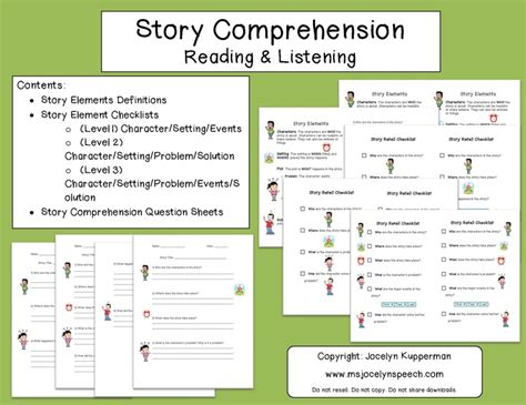 17 best images about speech reading comprehension on
