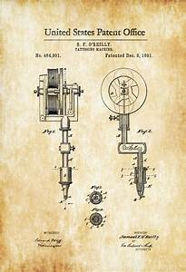 First Tattoo Machine Patent 1891 – Tattoo Gun Patent