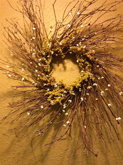 twig wreath   custom colors  green black